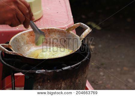 Deep Fried Rice Flour pandan flavour Thai pancake