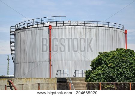 Large industrial gas container of the power plant