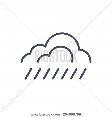 Rain Weather Icon Climate Forecast Concept Vector Illustration