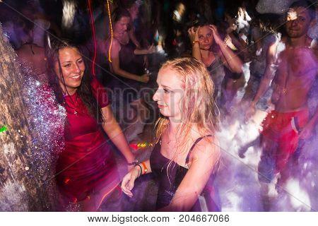 People In A Public Open Foam Party In Side In 2017