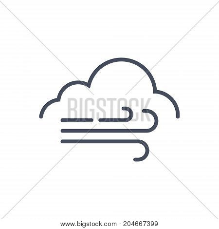 Huge Wind Weather Icon Climate Forecast Concept Vector Illustration