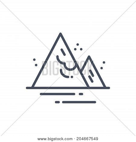 Avalanche Weather Icon Climate Forecast Concept Vector Illustration