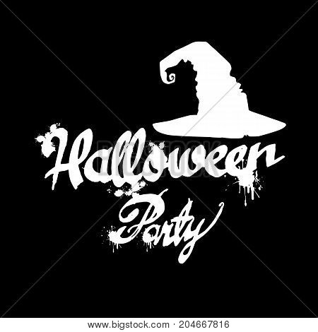 Set of silhouette image of Halloween witches. Witch halloween vector cartoon illustration hat