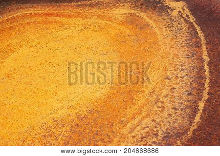 Yellow texture. Brown, orange. Round and abstract
