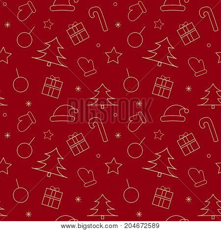 Christmas and new year pattern. Holiday seamless background.