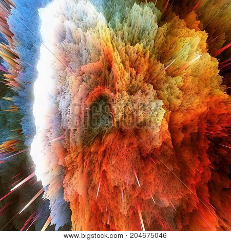 Colorful Galaxy Clouds And Big Bang Abstract Star Texture