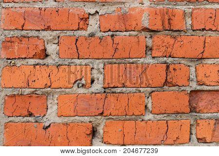 Red Brick Wall Texture Grunge Background