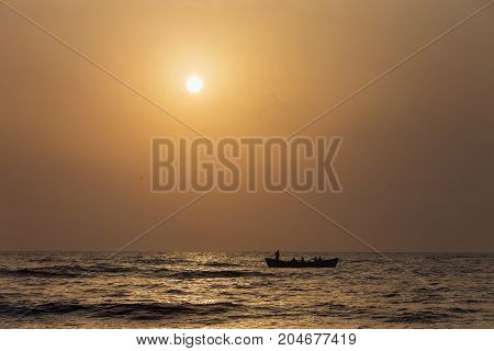 Beautiful summer sunrise at Black Sea, Romania