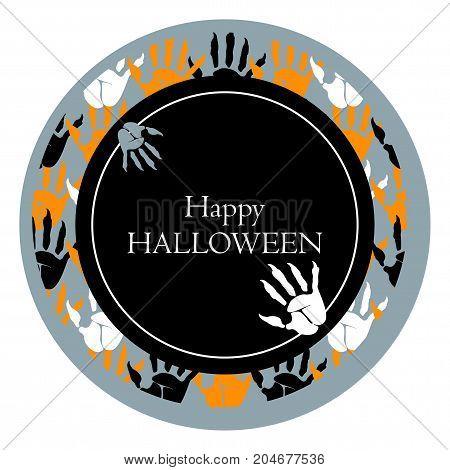 Happy Halloween Round Poster