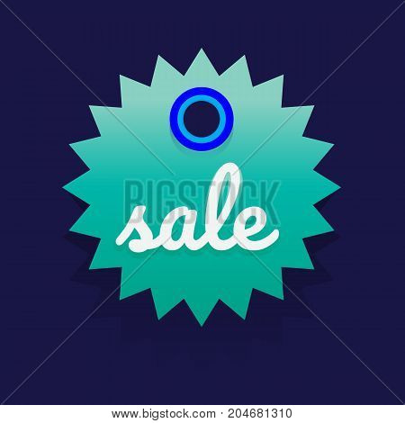 sale discount banner on white background. vector illustration. colorful
