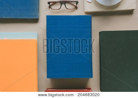 Book Glasses And Tea On The Desk With Study And Education Concept