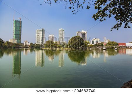Beira Lake In Colombo, Sri Lanka