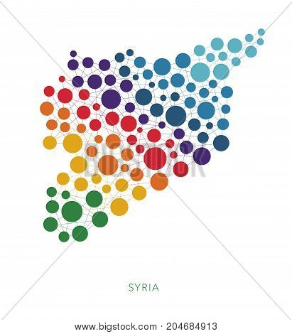 dotted texture Syria vector rainbow colorful background