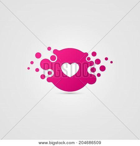 Heart symbol. Valentines day. Creative icon. Vector illustration