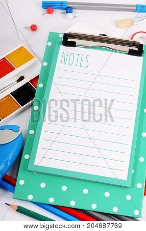 Clipboard With Sheets And Stationery