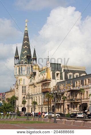 BATUMI, GEORGIA -AUGUST 14, 2013 : View of  Batumi, Georgia . Batumi is the capital of the Autonomous Republic of Adjara.