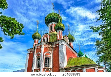 Alexander Nevsky Church in Pereslavl-Zalessky. The Golden Ring of Russia