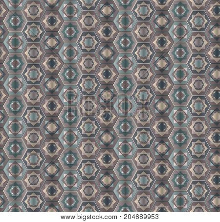 Abstract dusty gray hexagons seamless pattern. Modern vector stylish texture form hexagonal minimalistic ornament for textile wrapping paper cover surface background wallpaper carpet