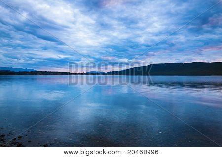 Sunset Over Lake Manapouri