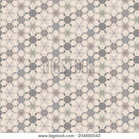 Abstract lacy floral seamless pattern. Trendy flowers calm texture for textile wrapping paper cover surface background wallpaper