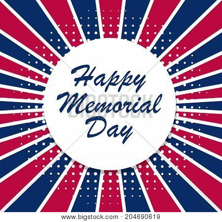 USA Memorial Day vector illustration background on stock