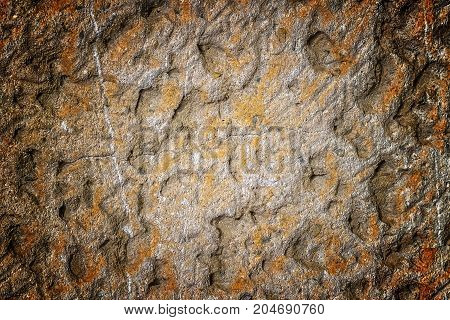 White Concrete Wall With Natural Texture And Cracks On The Surface As Background