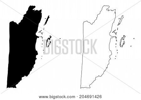 Belize map vector illustration , scribble sketch Belize