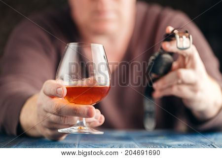 Problem Of Alcoholism, Man Stop Drinking More
