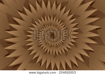 Star brown abstract vector pattern , Concentric star shapes - brown