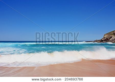 Beautiful wave on the beach in Spain