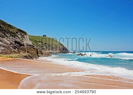 Perfect beach with clear sand in Spain