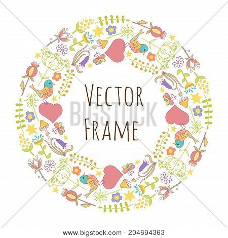 Round Frame Composition