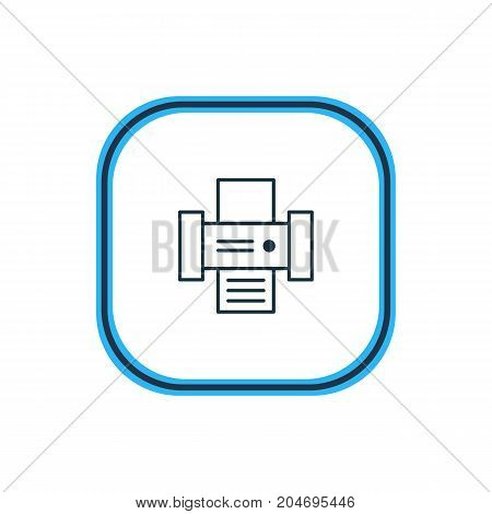 Technology Element Also Can Be Used As Photocopier Element.  Vector Illustration Of Printer Outline.