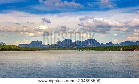 Scenery Thailand sea and island. Phi Phi island.