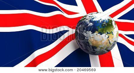 United Kingdom Flag & The Earth