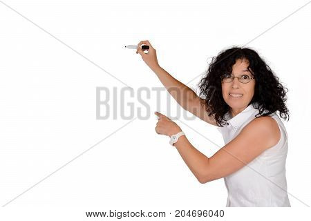 School Teacher Writing With Marker.