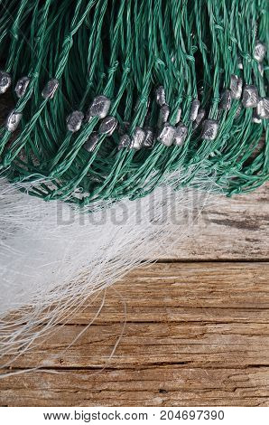 Fishing Net From The Fishing Line Close Up