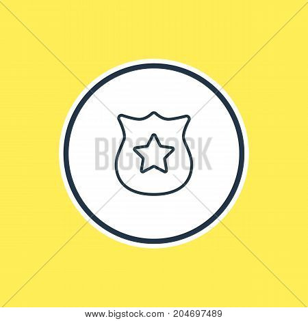 Beautiful Emergency Element Also Can Be Used As Badge Element.  Vector Illustration Of Police Outline.