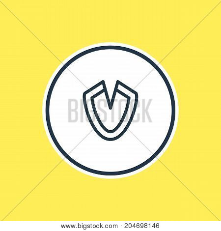 Beautiful Network Element Also Can Be Used As Antivirus Element.  Vector Illustration Of Virus Outline.