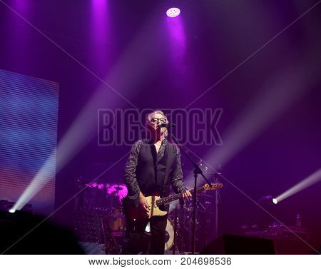 Vicenza, Pd, Padua - May 19, 2017: Live Concert Indoor Of Umberto Tozzi An Italian Singer