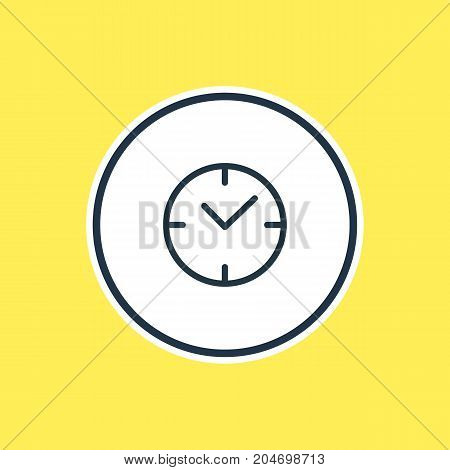 Beautiful Annex Element Also Can Be Used As Clock Element.  Vector Illustration Of Time Outline.