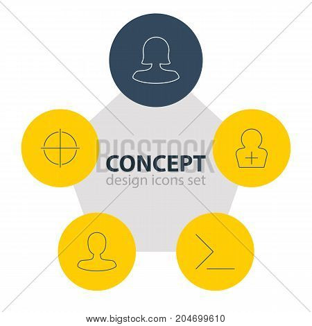 Editable Pack Of Startup, Man Member, Positive And Other Elements.  Vector Illustration Of 5 UI Icons.