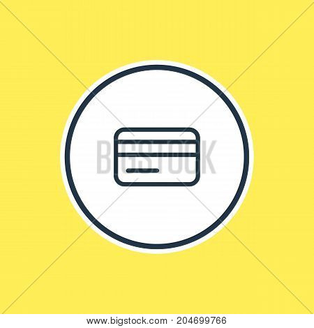 Beautiful Annex Element Also Can Be Used As Payment Element.  Vector Illustration Of Credit Card Outline.