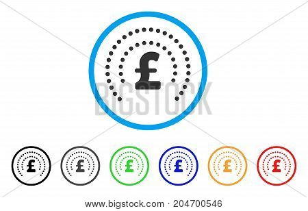 Pound Sphere Shield rounded icon. Style is a flat pound sphere shield gray symbol inside light blue circle with black, gray, green, blue, red, orange versions.