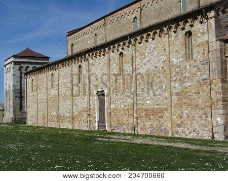 Roman Catholic basilica church of San Pietro Apostolo situated near Pisa at San Piero a Grado Tuscany Italy