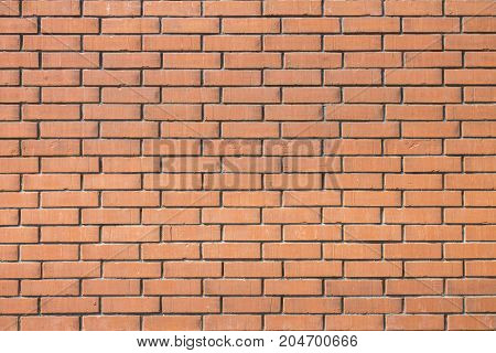 Backdrop of a horisontal red brick wall