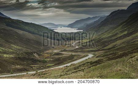 Loch Maree From Glen Docherty In Wester Ross, Scotland