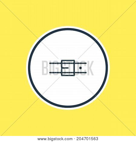 Beautiful Dress Element Also Can Be Used As Strap Element.  Vector Illustration Of Belt Outline.