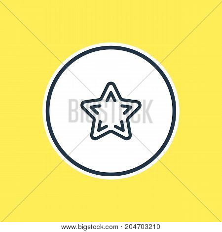 Beautiful Leisure Element Also Can Be Used As Favorite Element.  Vector Illustration Of Star Outline.