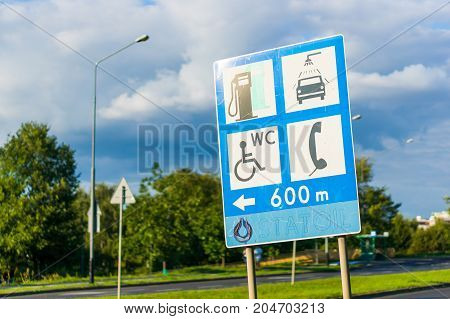 Information Traffic Sign